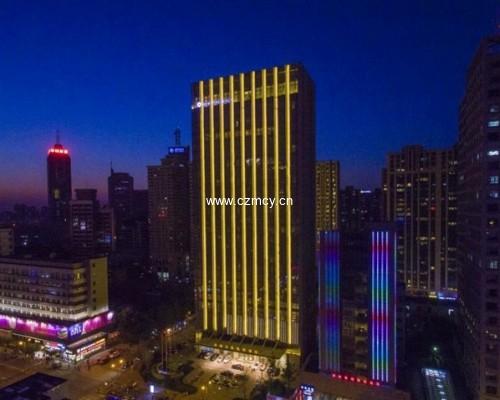 济南万达凯悦酒店室外标识项目